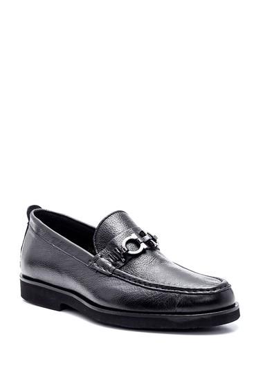 Siyah Erkek Deri Tokalı Loafer 5638332625