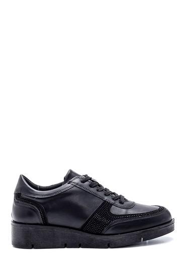 Siyah Kadın Taş Detaylı Ayakkabı 5638340831