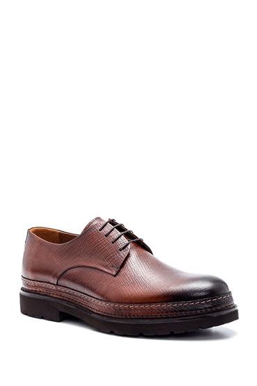 Taba Erkek Deri Baskılı Ayakkabı 5638347916