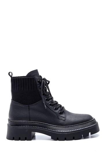 Siyah Kadın Çoraplı Postal Bot 5638349544