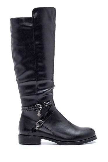 Siyah Kadın Casual Toka Detaylı Çizme 5638083333