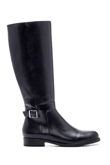 Siyah Kadın Casual Toka Detaylı Çizme 5638083366