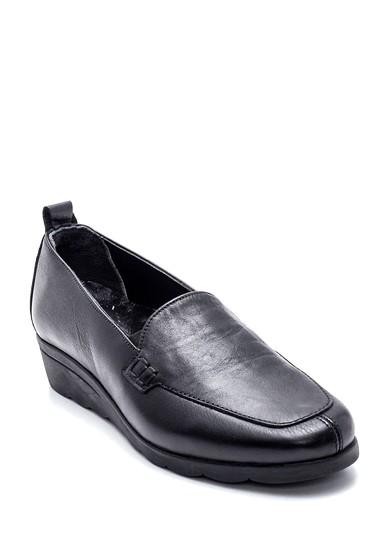 Siyah Kadın Deri Ayakkabı 5638306075