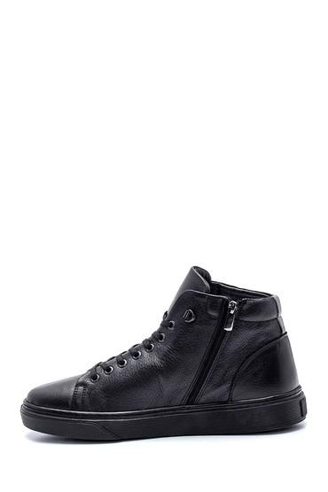 Siyah Erkek Deri Boğazlı Sneaker 5638332815